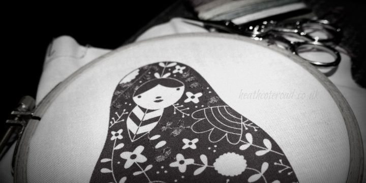 Matryoshka Embroidery, revisiting crewel work